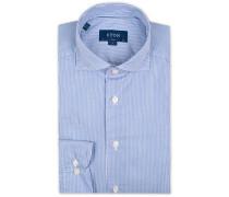 Slim Fit Lightweight Twill Streifenhemd Blue
