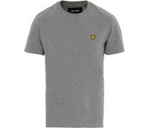 Rundhals Tshirt Mid Grey Marl