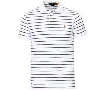 Slim Fit Luxury Pima Baumwoll Polo White/Navy
