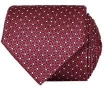 Silk Dotted 8 cm Krawatte Bordeaux