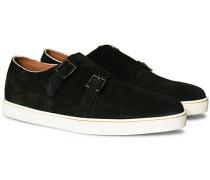 Holme Monkstrap Sneaker Black Suede