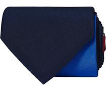 Horisontal Stripe Print 7,5 cm Krawatte Navy/Red