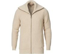 Strick Zip Pullover Dune