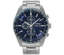 Solar Chronograph 43mm Steel/Dark Blue Dial