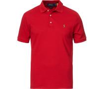 Slim Fit Luxury Pima Baumwoll Polo Avenue Red