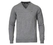 Lymann True Merino Pullover mit V-Ausschnitt Grey
