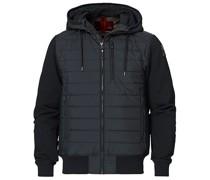 Ivor Fleece Hooded Hybrid Black