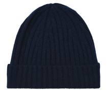 Strick Cashmere Mütze Navy