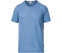 Kurzarm Leinen Tshirt Blue