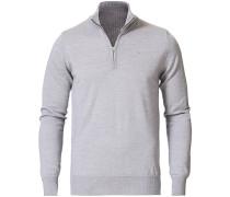 Lane Merino Half Zip Grey