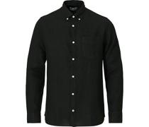 Levon Leinenhemd Black