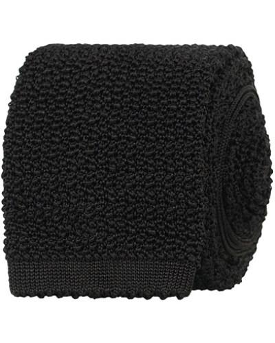 Stricked Silk 6.5 cm Krawatte Black