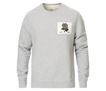 Rose Embroidered Sweatshirt Grey