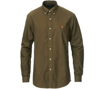 Custom Fit Garment Dyed Oxfordhemd Defender Green