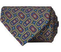 Printed Silk Popeline Allover 8 cm Krawatte Green