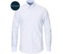 Slimline Oxfordhemd Blue/White