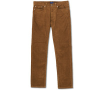 Slim Fit Corduroy 5-Pocket Hosen Butternut