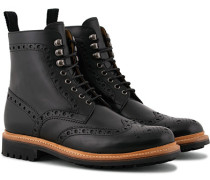 Fred Commando Stiefel Black Calf