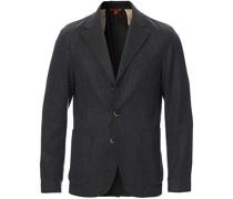 Pinstripe Flannel Blazer Dark Grey