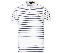 Slim Fit Luxury Pima Baumwoll Polo White/Navy