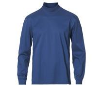 Refined Stehkragen Longsleeve Tshirt Crown Blue