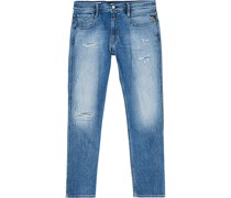 Anbass Superstretch Destroyed Jeans Blue