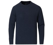 Merino/Nylon Rundhals Heather Indigo