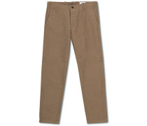 Steven Regular Fit Stretch Chinohose Green Stone