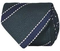 Silk 8 cm gestreift Krawatte Green/Navy