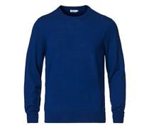 Merino Round Neck Pullover Marine Blue