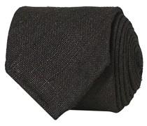 Tussah Silk Handrolled 8 cm Krawatte Black