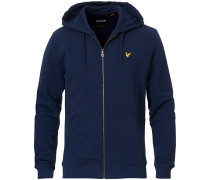 Zip Through Hodded Sweatshirt Navy