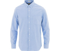 Slim Fit Stretch Oxfordhemd Regenmantel Blue