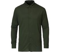 Calandre Jersey Tencelbluse Dark Green