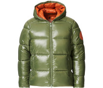 Mid Length Padded Puffer Thyme Green
