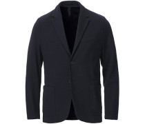 Rice Stitched Blazer Dark Blue