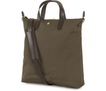 M/S Canvas Shopper Army/Dark Brown