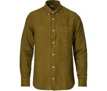 Levon Leinenhemd Olive Green
