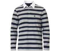 Soft Baumwoll Striped Rugby  Grey/Navy