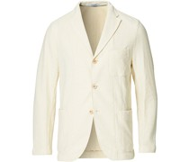 Unconstructed Stricked Jersey Blazer Off White
