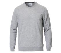 Ted Extra Fine Merino Rundhalspullover Medium Grey