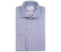 Fitted Body Streifenhemd White/Blue