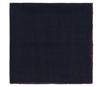 Plain Woll/Silk Einstecktuch Navy
