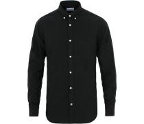 Levon Buttondown Oxfordhemd Black