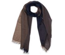 Merino Woll Block Coloured Halstuch / Schal Blue