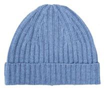 Strick Cashmere Mütze Light Blue