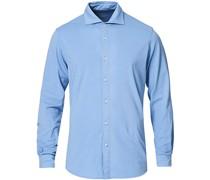 Baumwoll Stretch Jerseyhemd Light Blue