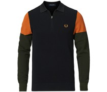Colour Block Strickhemd Black