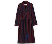 Woll/Cashmere Streifenkleiding Abendrobe Navy/Red