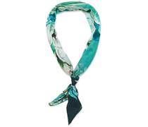 Baumwoll/Silk Floral Bandana Green